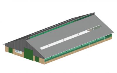 Project – nieuwbouw melkveestal Kanlaan 44 Punthorst
